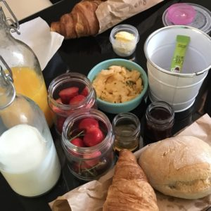 ポルトCathedral Design Apartmentsの癒しの朝食