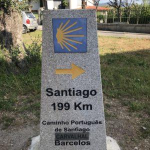 カミーノ「ポルトガル人の道」のモホン