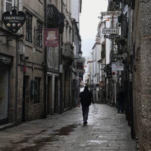 カミーノ「ポルトガル人の道」サンティアゴの街
