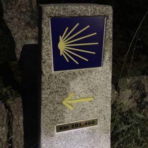 カミーノ「ポルトガル人の道」のモホン(道標)