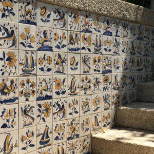 カミーノ「ポルトガル人の道」カワイイ手描きタイル