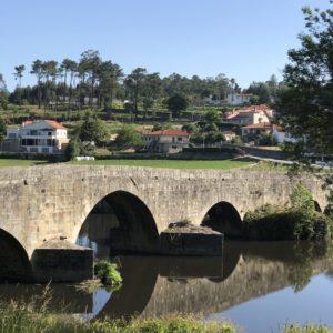 カミーノ「ポルトガル人の道」アヴェ川を渡るザメイロ橋