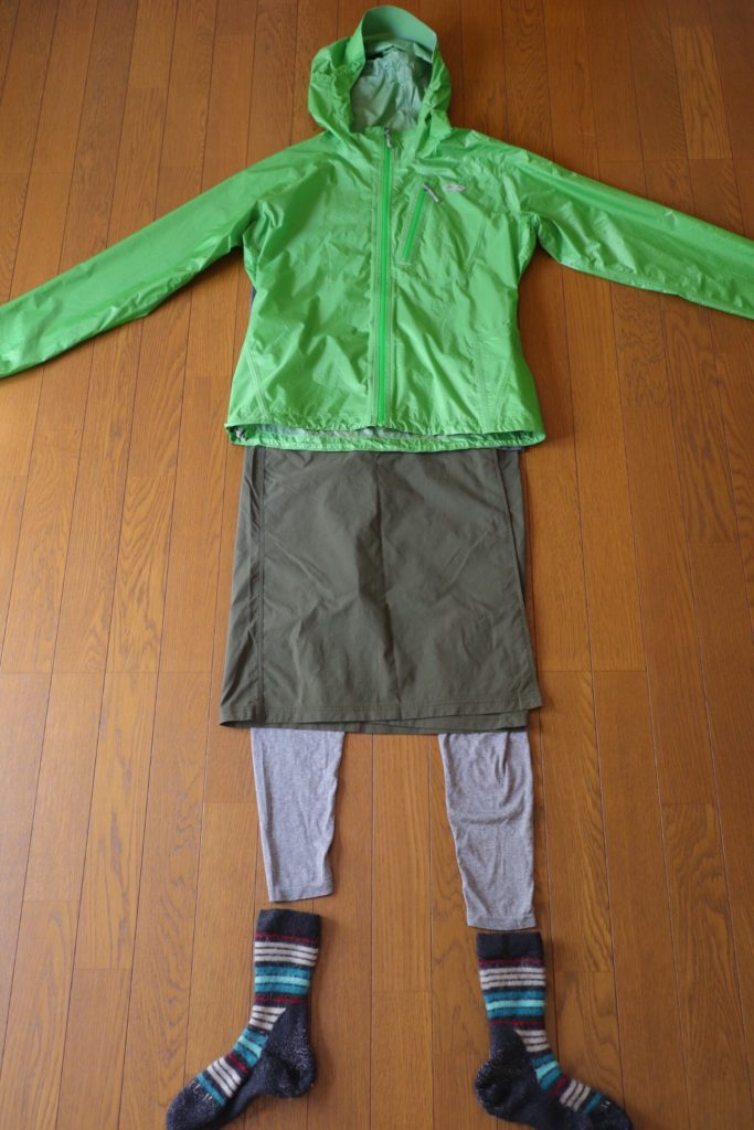 カミーノ「ポルトガル人の道」シャワー後の服装