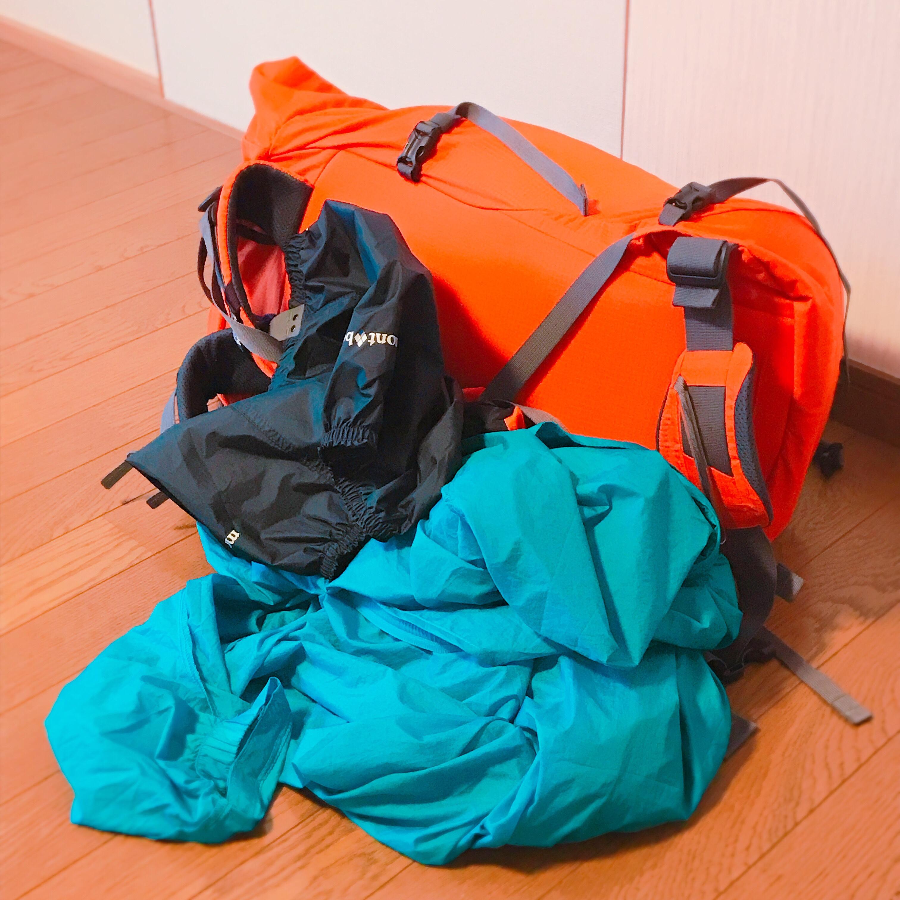 カミーノへ持っていく荷物とバックパック